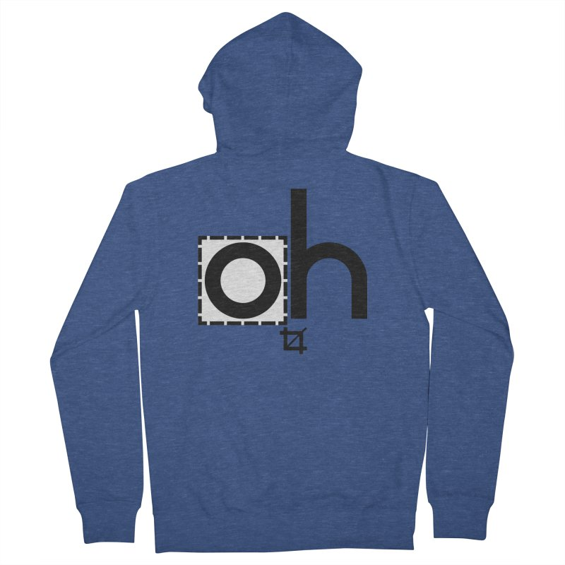 oh crop Women's French Terry Zip-Up Hoody by bortwein's Artist Shop