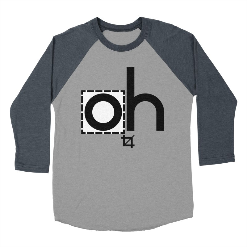 oh crop Men's Baseball Triblend T-Shirt by bortwein's Artist Shop