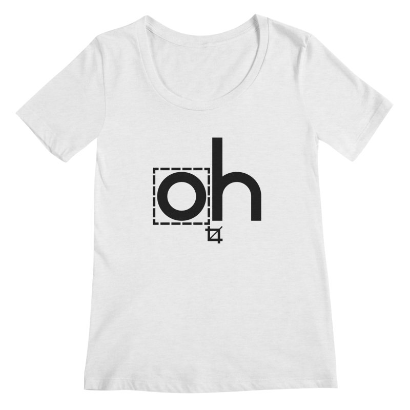 oh crop Women's Regular Scoop Neck by bortwein's Artist Shop
