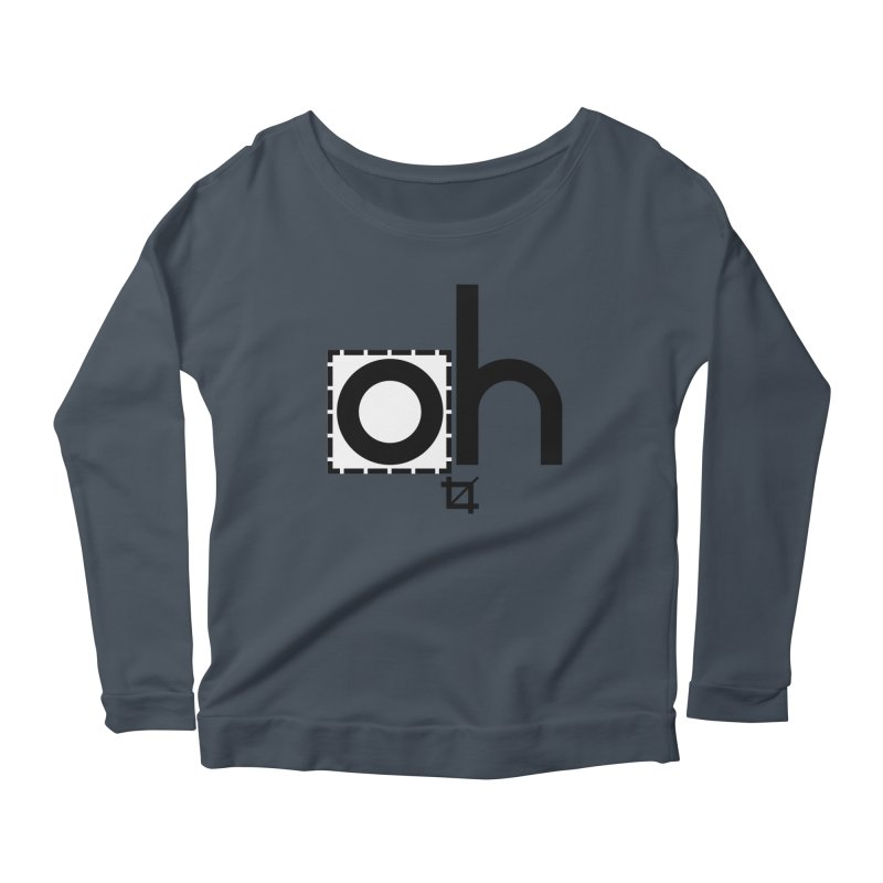 oh crop Women's Scoop Neck Longsleeve T-Shirt by bortwein's Artist Shop