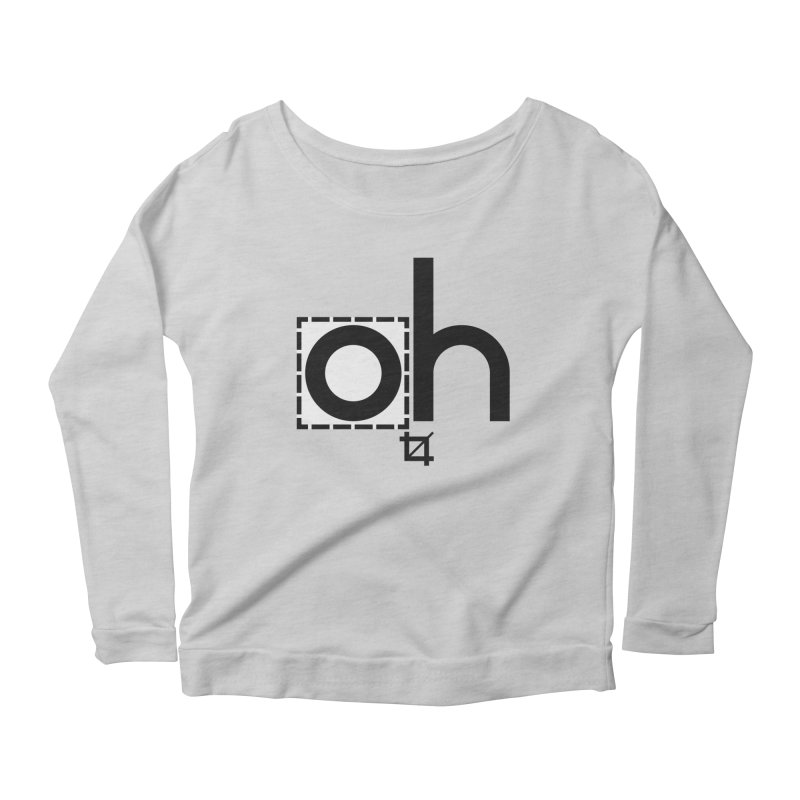 oh crop Women's Longsleeve Scoopneck  by bortwein's Artist Shop