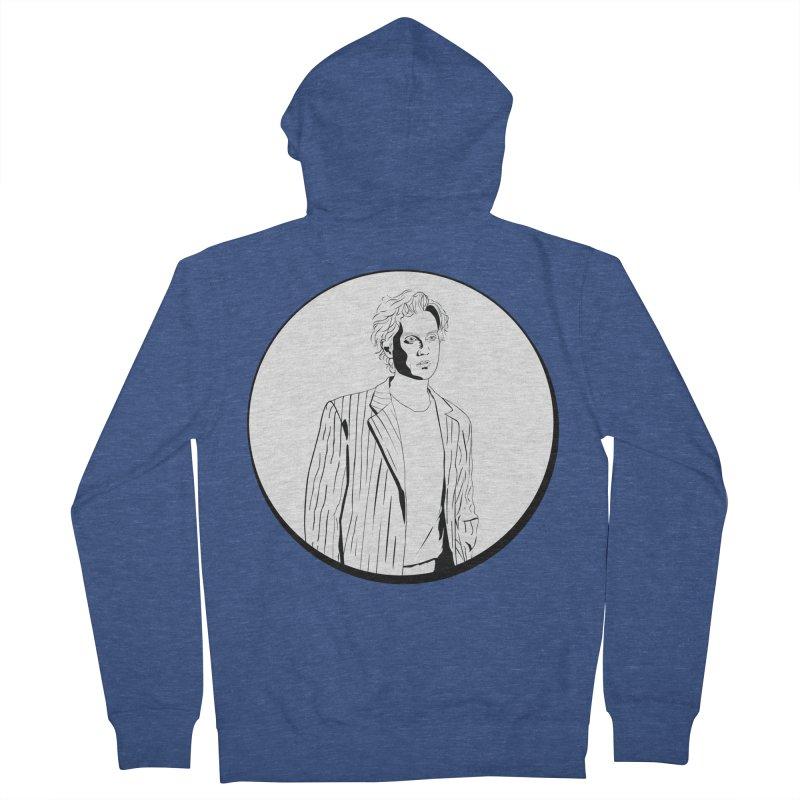 Luke Men's French Terry Zip-Up Hoody by Boshik's Tshirt Shop