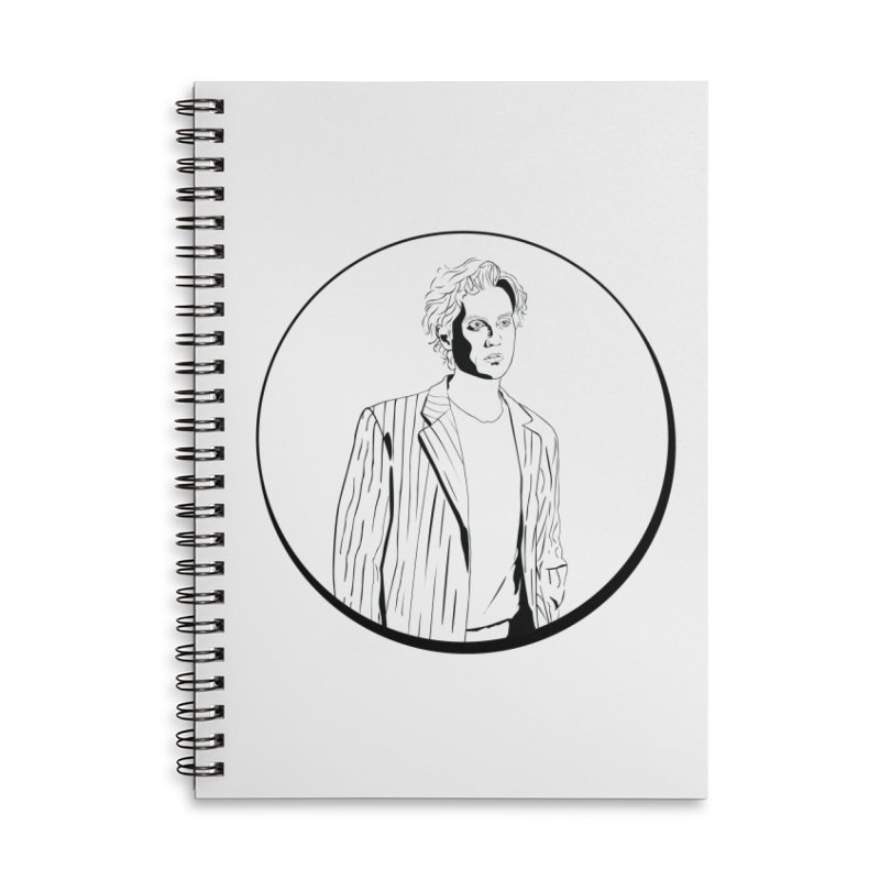 Luke Accessories Lined Spiral Notebook by Boshik's Tshirt Shop