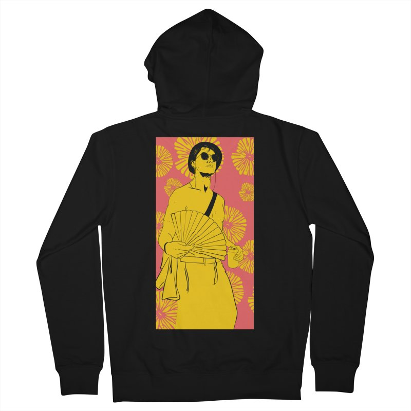 Party Josh Women's French Terry Zip-Up Hoody by Boshik's Tshirt Shop