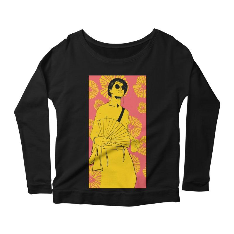 Party Josh Women's Scoop Neck Longsleeve T-Shirt by Boshik's Tshirt Shop