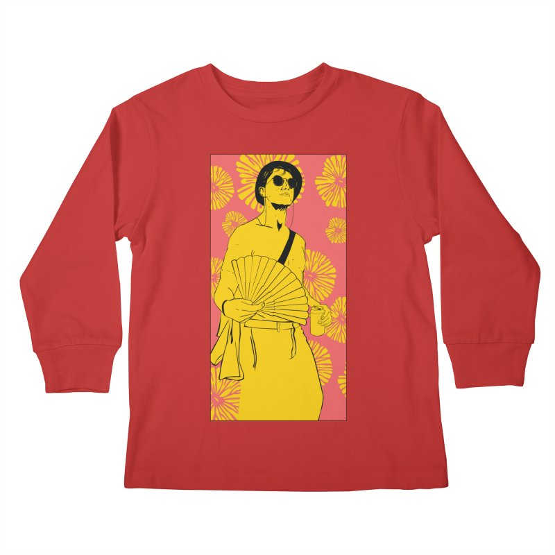 Party Josh Kids Longsleeve T-Shirt by Boshik's Tshirt Shop