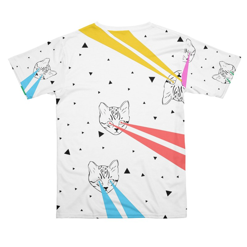 Lazer Cat Men's Cut & Sew by Boshik's Tshirt Shop