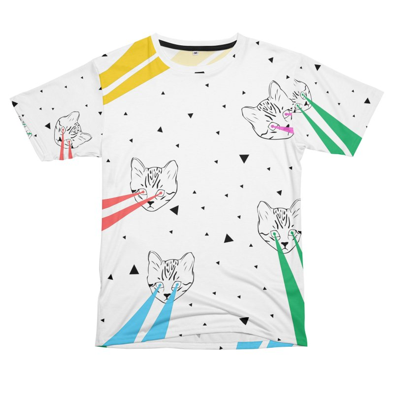 Lazer Cat Women's Unisex T-Shirt Cut & Sew by Boshik's Tshirt Shop
