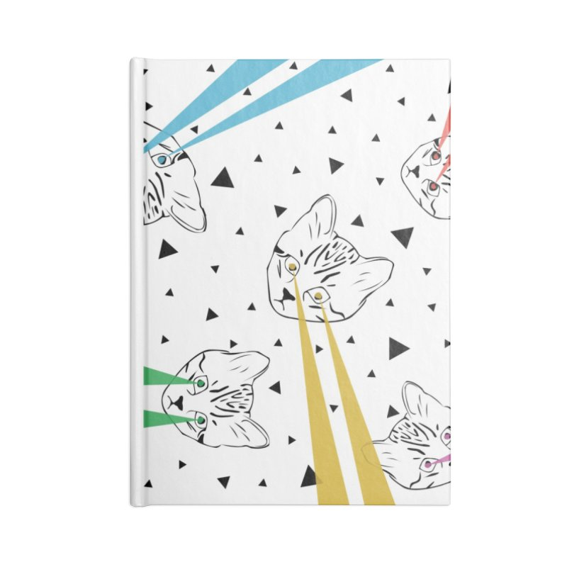 Lazer Cat Accessories Lined Journal Notebook by Boshik's Tshirt Shop