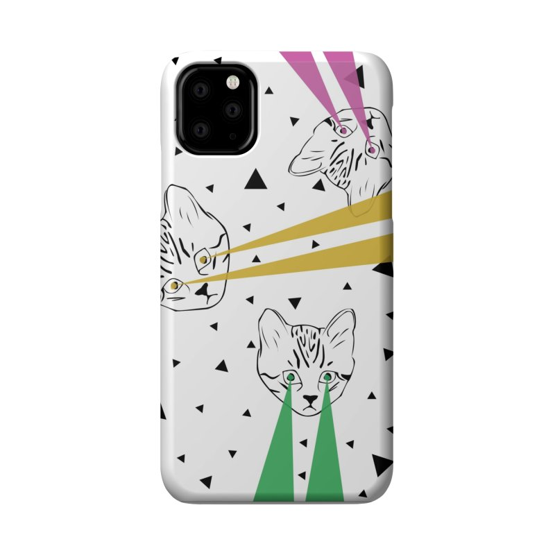 Lazer Cat Accessories Phone Case by Boshik's Tshirt Shop
