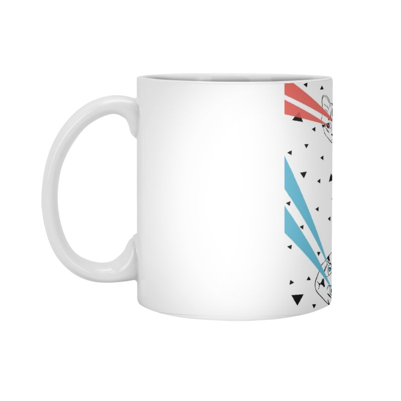 Lazer Cat Accessories Standard Mug by Boshik's Tshirt Shop