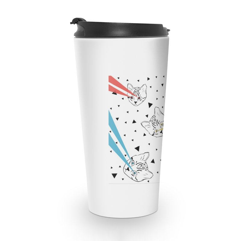 Lazer Cat Accessories Travel Mug by Boshik's Tshirt Shop