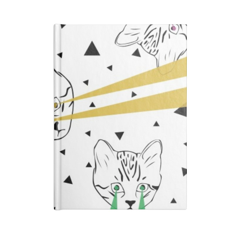 Lazer Cat Accessories Blank Journal Notebook by Boshik's Tshirt Shop
