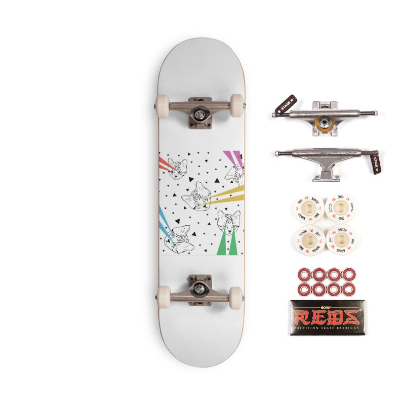Lazer Cat Accessories Complete - Pro Skateboard by Boshik's Tshirt Shop