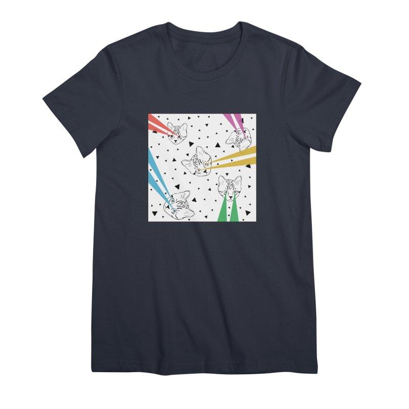 Lazer Cat Women's Premium T-Shirt by Boshik's Tshirt Shop