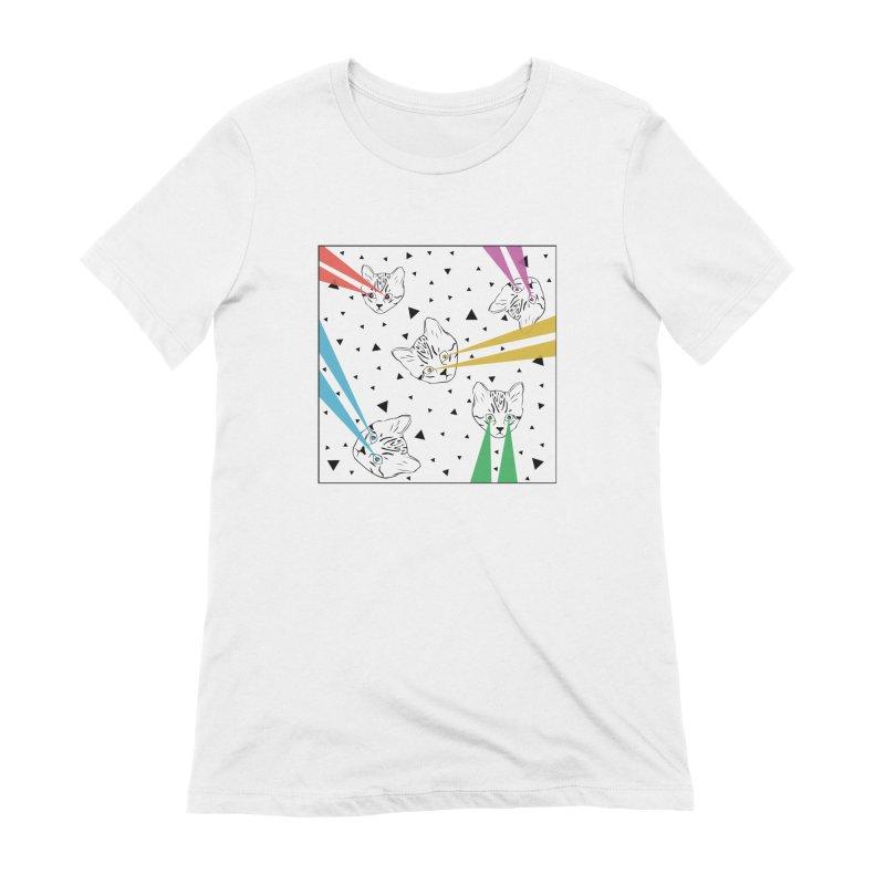 Lazer Cat Women's Extra Soft T-Shirt by Boshik's Tshirt Shop
