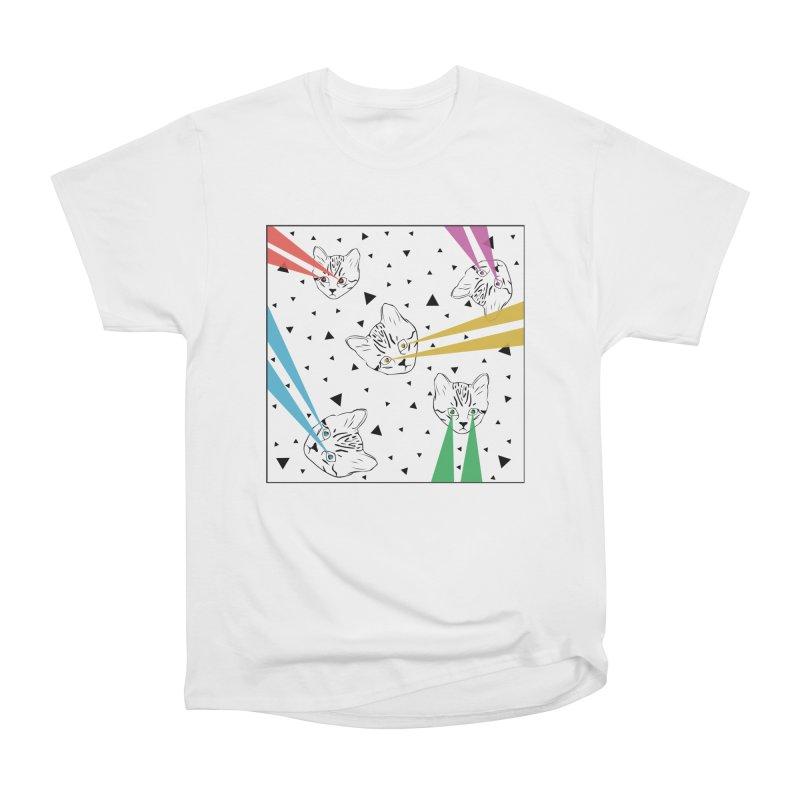 Lazer Cat Men's T-Shirt by Boshik's Tshirt Shop