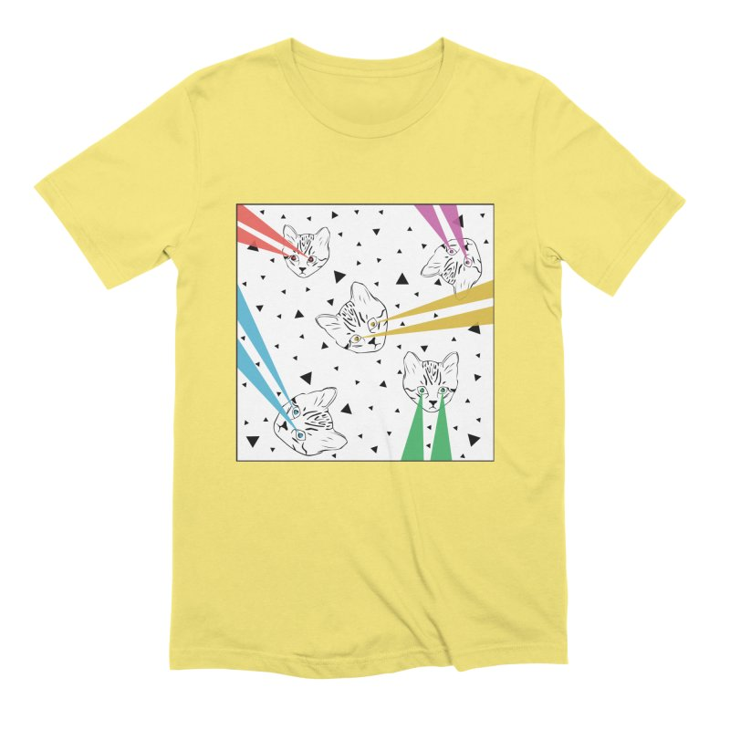 Lazer Cat Men's T-Shirt by Boshik's Tshirt Shop
