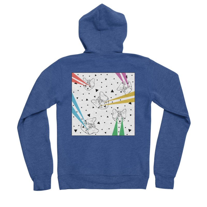Lazer Cat Women's Zip-Up Hoody by Boshik's Tshirt Shop