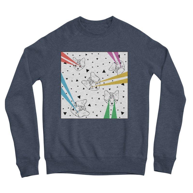 Lazer Cat Women's Sponge Fleece Sweatshirt by Boshik's Tshirt Shop
