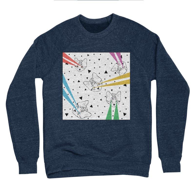 Lazer Cat Men's Sponge Fleece Sweatshirt by Boshik's Tshirt Shop