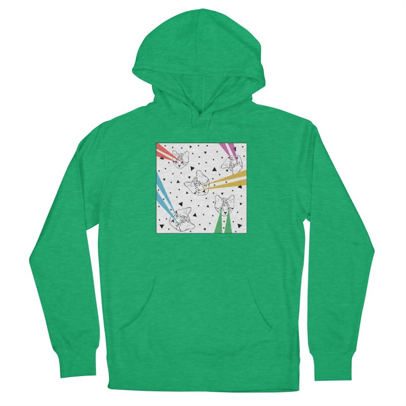Lazer Cat Women's French Terry Pullover Hoody by Boshik's Tshirt Shop