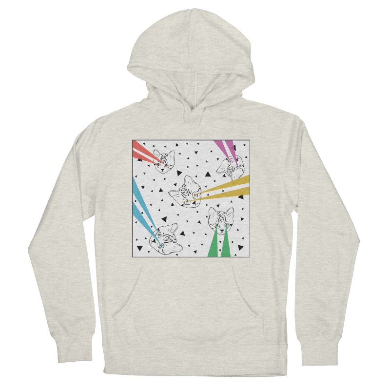 Lazer Cat Men's French Terry Pullover Hoody by Boshik's Tshirt Shop