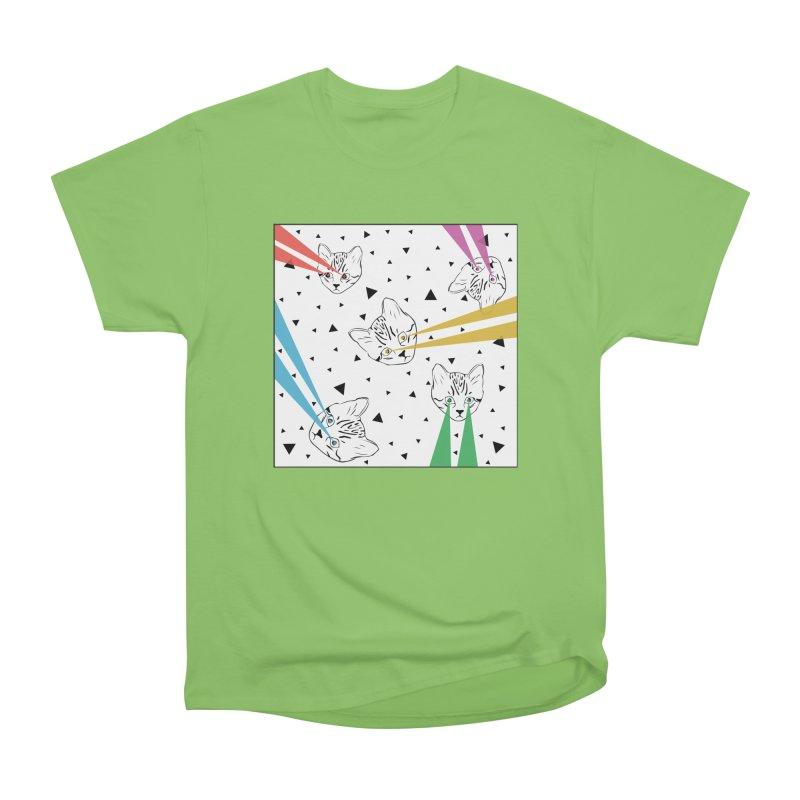 Lazer Cat Men's Heavyweight T-Shirt by Boshik's Tshirt Shop