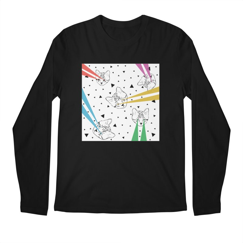 Lazer Cat Men's Longsleeve T-Shirt by Boshik's Tshirt Shop