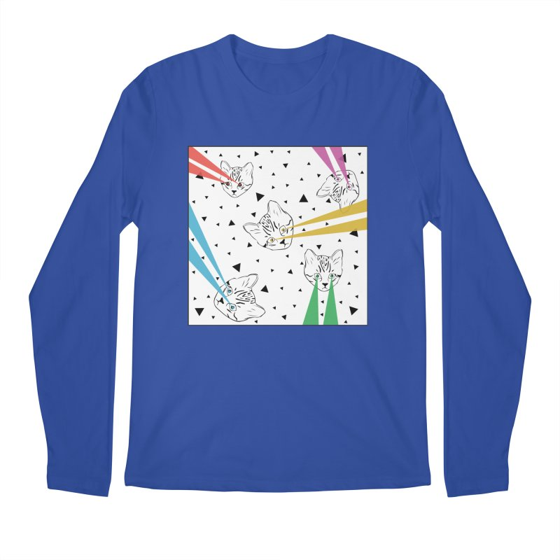Lazer Cat Men's Regular Longsleeve T-Shirt by Boshik's Tshirt Shop