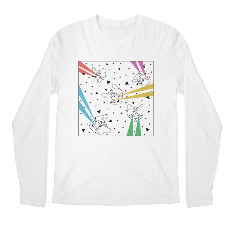 Lazer Cat Men's Regular Longsleeve T-Shirt by Boshik's Tshirt Shop