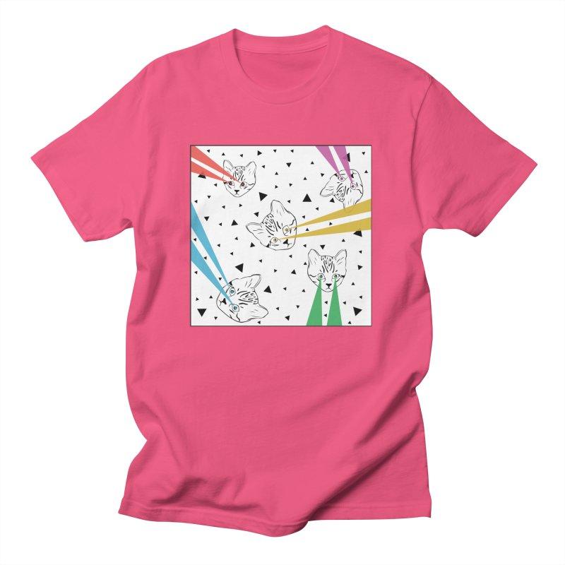 Lazer Cat Women's Regular Unisex T-Shirt by Boshik's Tshirt Shop
