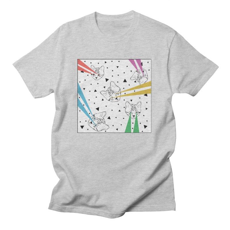 Lazer Cat Men's Regular T-Shirt by Boshik's Tshirt Shop