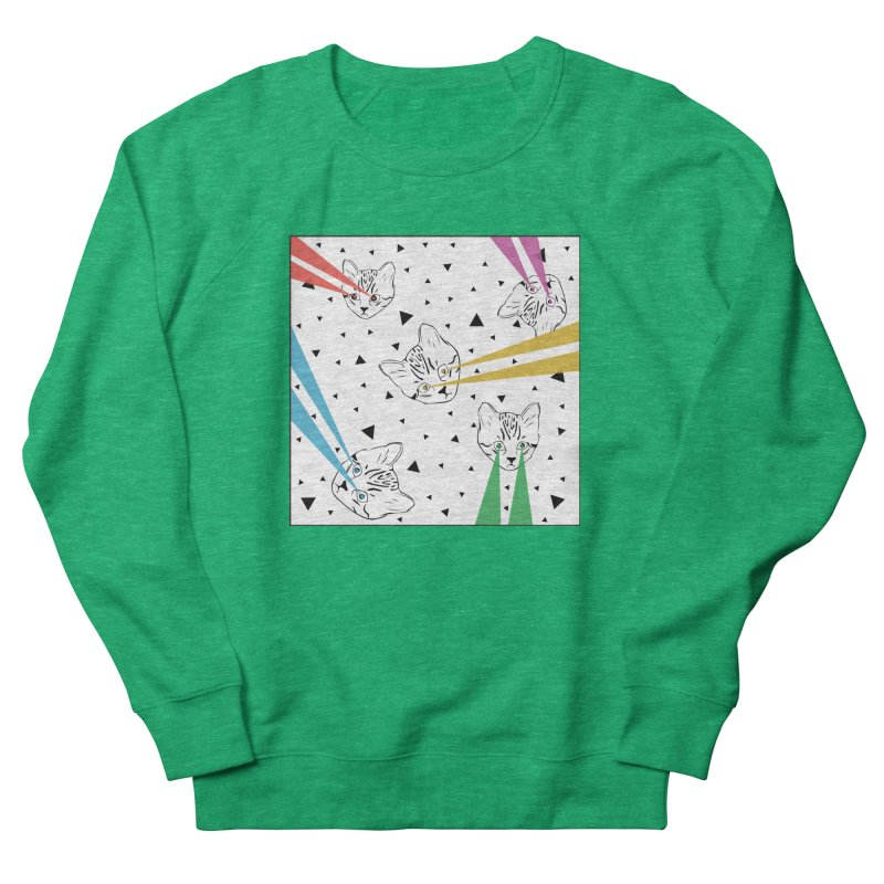 Lazer Cat Women's Sweatshirt by Boshik's Tshirt Shop