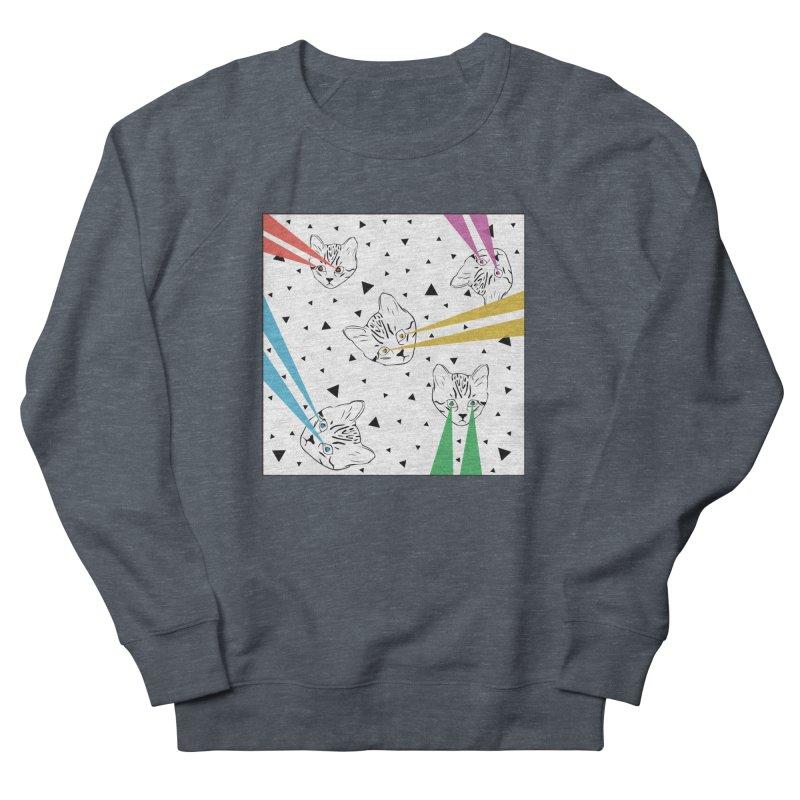 Lazer Cat Women's French Terry Sweatshirt by Boshik's Tshirt Shop