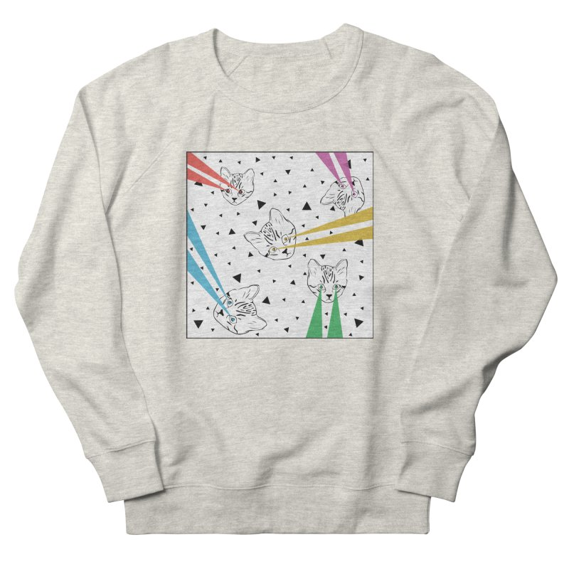 Lazer Cat Men's French Terry Sweatshirt by Boshik's Tshirt Shop