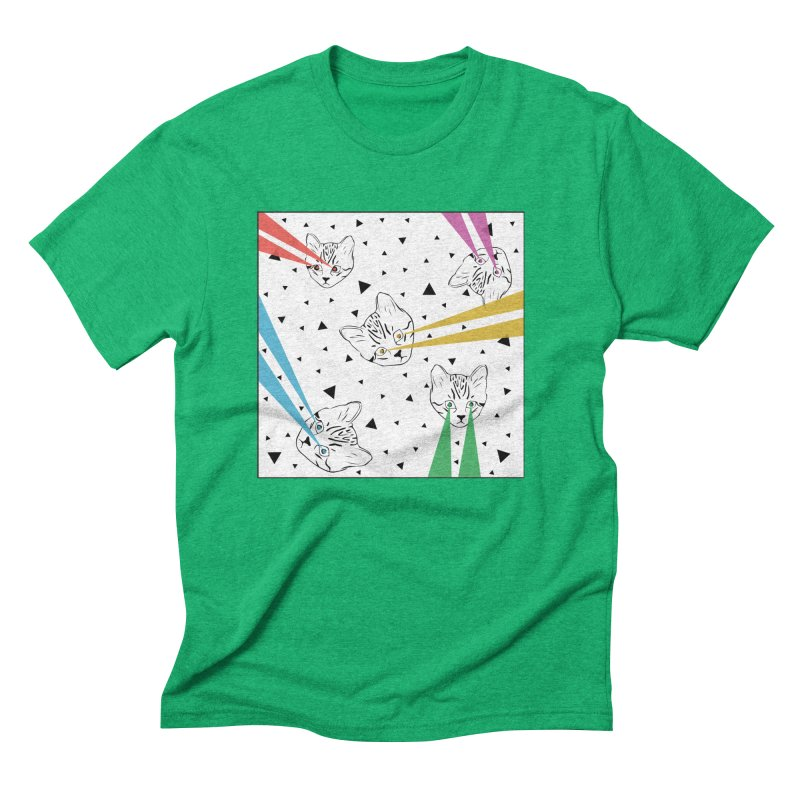 Lazer Cat Men's Triblend T-Shirt by Boshik's Tshirt Shop
