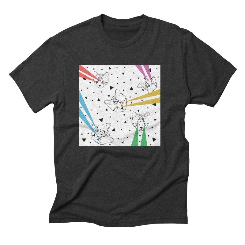 Lazer Cat Men's Triblend T-Shirt by Boshik's Tshirt Shop