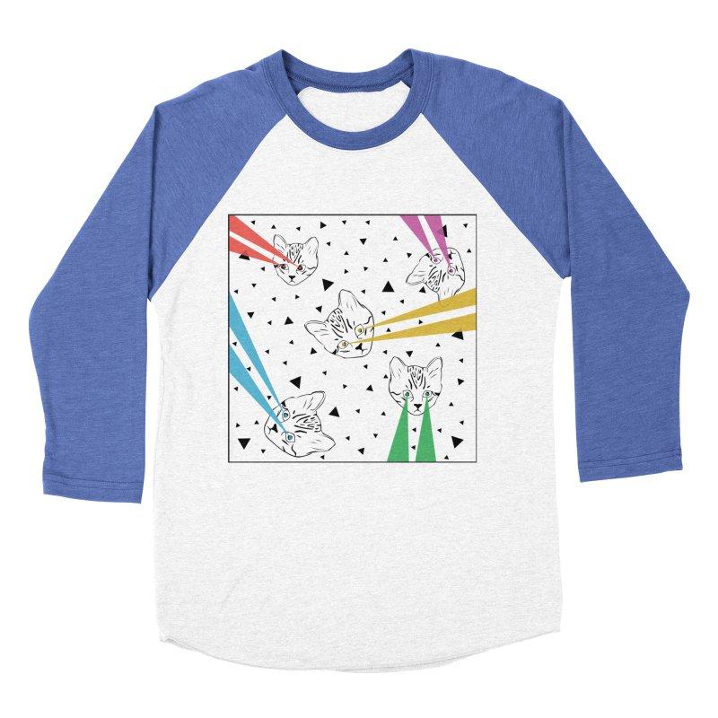 Lazer Cat Women's Baseball Triblend Longsleeve T-Shirt by Boshik's Tshirt Shop