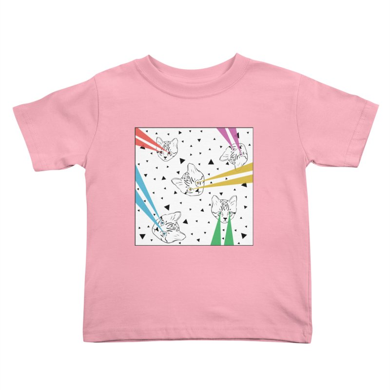 Lazer Cat Kids Toddler T-Shirt by Boshik's Tshirt Shop