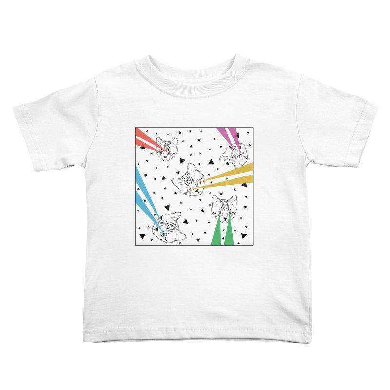 Lazer Cat Kids Toddler T-Shirt by Boshik's Tshirt Shop