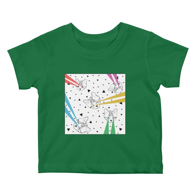 Lazer Cat Kids Baby T-Shirt by Boshik's Tshirt Shop