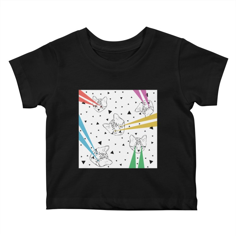 Lazer Cat Kids Baby T-Shirt by Boshik's Tshirt Shop