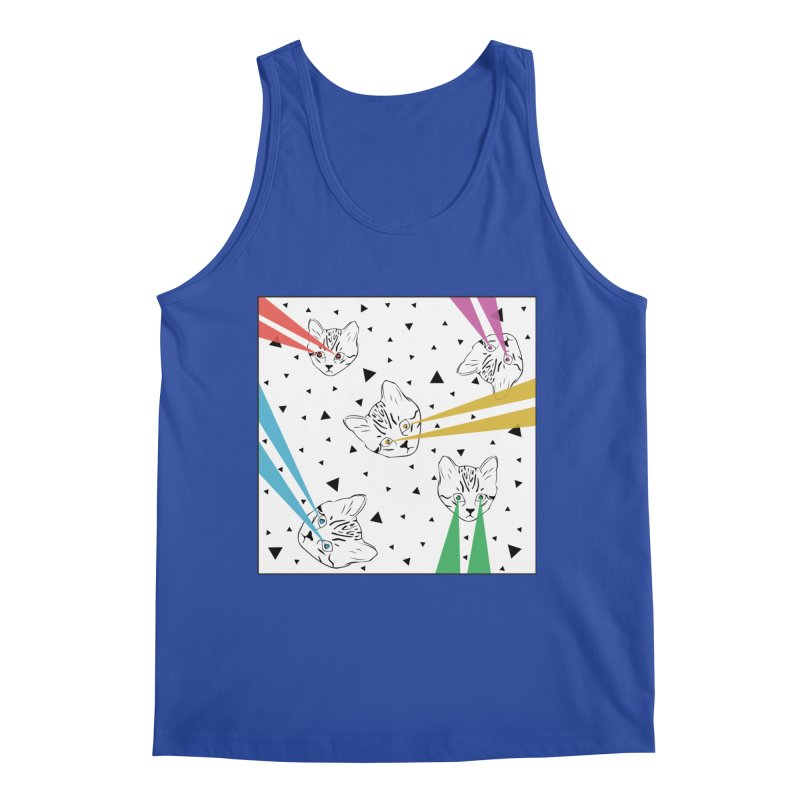 Lazer Cat Men's Regular Tank by Boshik's Tshirt Shop
