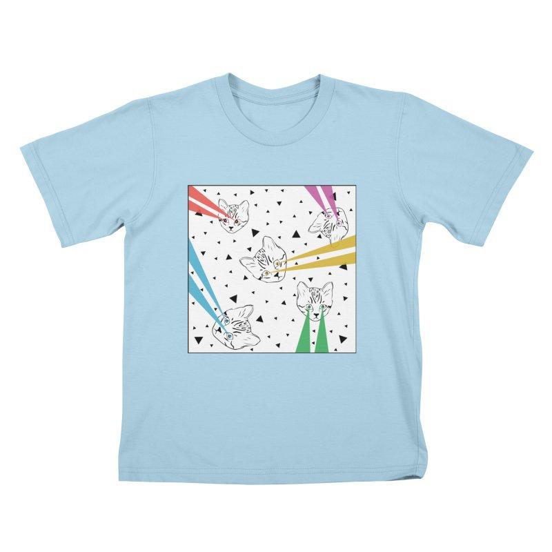 Lazer Cat Kids T-Shirt by Boshik's Tshirt Shop