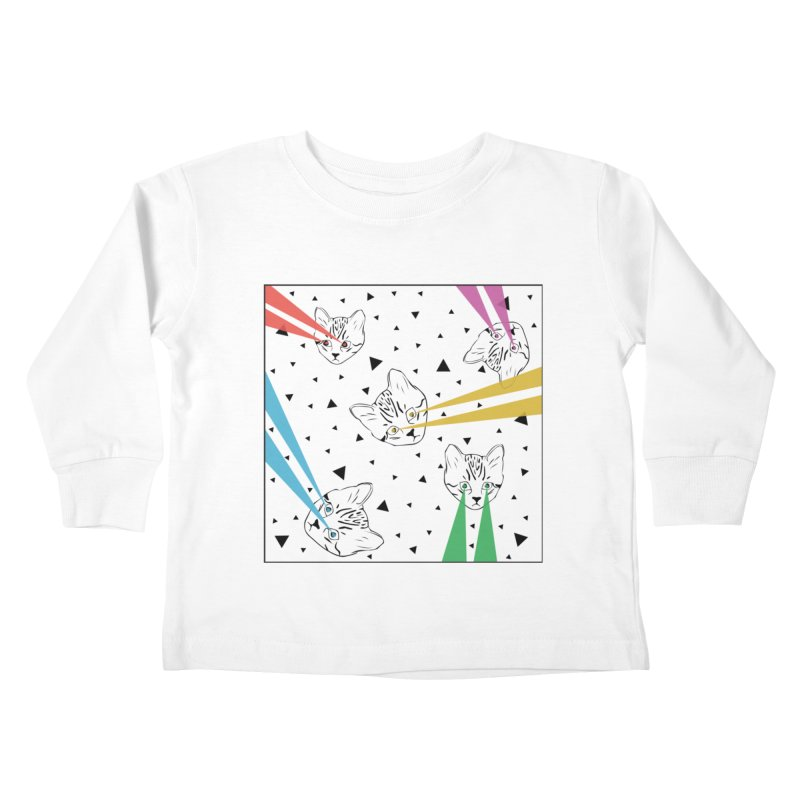Lazer Cat Kids Toddler Longsleeve T-Shirt by Boshik's Tshirt Shop