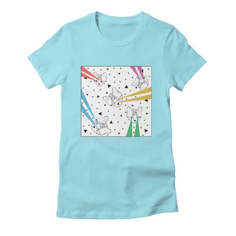 Lazer Cat Women's T-Shirt by Boshik's Tshirt Shop