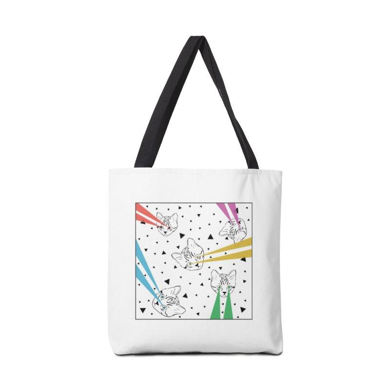 Lazer Cat Accessories Tote Bag Bag by Boshik's Tshirt Shop