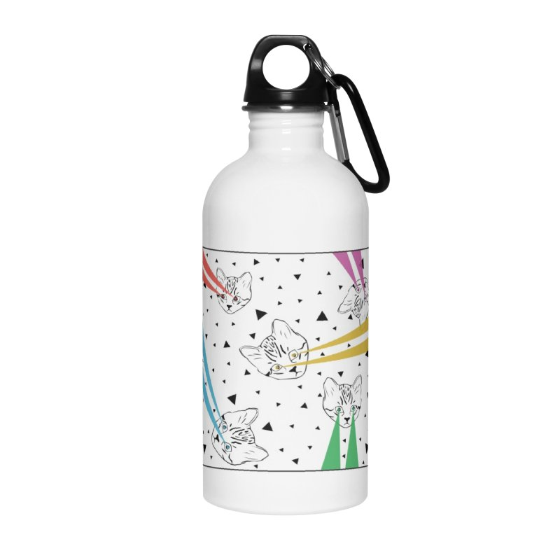 Lazer Cat Accessories Water Bottle by Boshik's Tshirt Shop