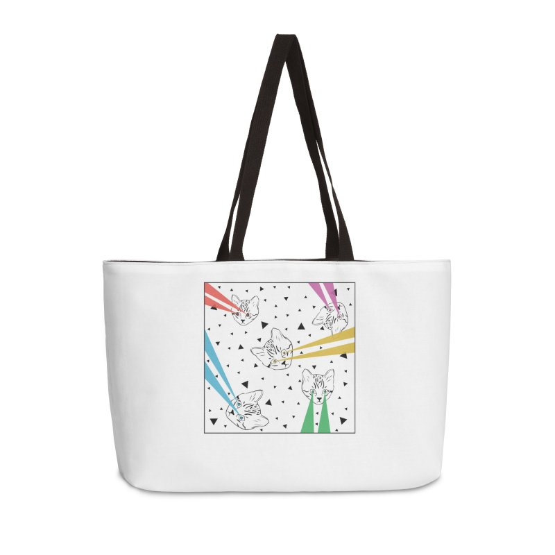 Lazer Cat Accessories Weekender Bag Bag by Boshik's Tshirt Shop